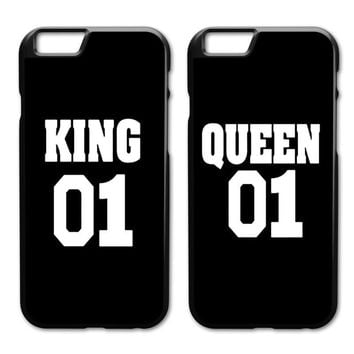 Cool King Queen 01 Brand Couple Case for iPhone 4 4s 5 5s SE 5c 6 6s 7 8 Plus XAT_93_12