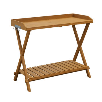 Home Garden Patio Potting Bench Gardening Table - Easy To Assemble