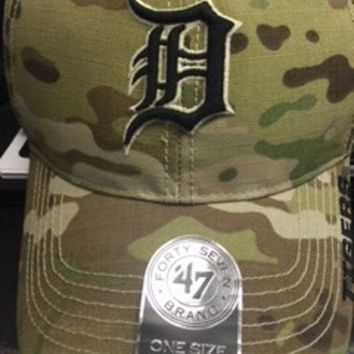 DCCKG8Q MLB 47 BRAND DETROIT TIGERS MENS MULTICAM MYERS HAT