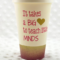Personalized Tumbler * Personalized Mug * Custom Travel Coffee Mug * Coffee Tea Mug* Ombre Glitter Coffee Cup* Teacher Mug