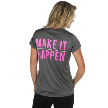 Women's Rope Like A Girl Make It Happen Grey Tee