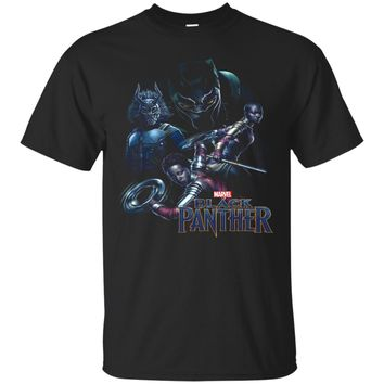 Marvel Black Panther Movie Warrior Poses Graphic T-Shirt