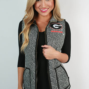 University Of Georgia Herringbone Vest