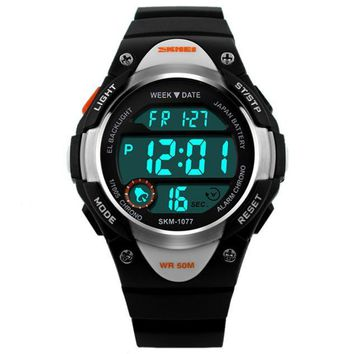 SKMEI Digital Watch Sports Watches Boy Girls LED Alarm Stopwatch Wrist Watch