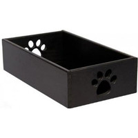 Amish Handcrafted Small Dog Toy Box - Black