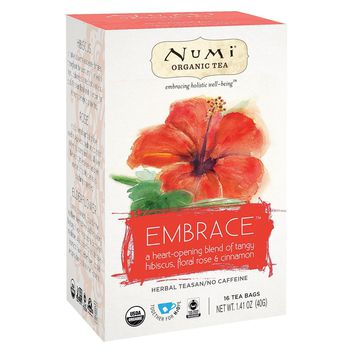 Numi Tea Organic Herb Tea -embrace - Case Of 6 - 16 Count
