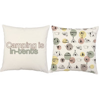 Camping is Intense Pillows - Camping Print Throw Pillow Covers and or Cushions - Pun Prints, Tent Print Pillow, Camping Decor, Outdoors Gift