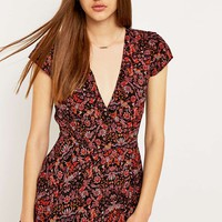 Kimchi Blue Anita Deco Printed Playsuit - Urban Outfitters