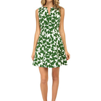 Kate Spade New York Garden Leaves Pique A-Line Dress