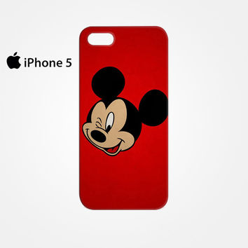 Mickey Mouse Red Background Wallpaper for Iphone 4/4S Iphone 5/5S/5C Iphone 6/6S/6S Plus/6 Plus 3D Phone case