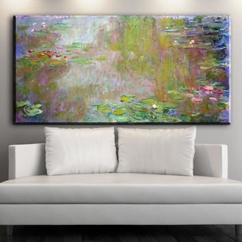 xdr830 Modern Impression Claude Monet Water Lily Pond Landscape Oil Paintings Reproduction Prints art