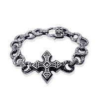 Gift Hot Sale Great Deal New Arrival Awesome Shiny Vintage Stylish Accessory Style Cross Rack Titanium Jewelry Bracelet [6542700739]