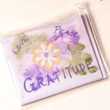 Peace, Gratitude, Love Inspirational Cards, Blank Note Cards, Blank Greeting Cards, Stationary Set, Blank Cards, Gift for Her Gifts under 15