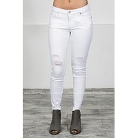 Dear John Snow White Skinny Denim