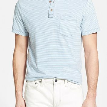Men's Tailor Vintage Stripe Short Sleeve Henley,