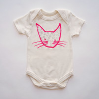 Neon Kitty Organic Bodysuit in Natural