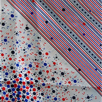 Red, White and Blue Silk Scarf