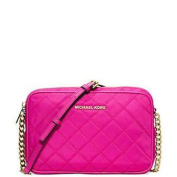 Michael Michael Kors Quilted Nylon East West Crossbody Bag