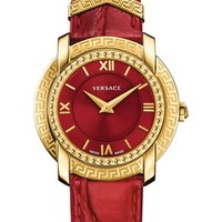 Versace DV-25 Leather Strap Watch, 36mm | Nordstrom