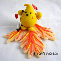 PARKER on FIRE Hunger Games Inspired Polymer Clay by KatersAcres