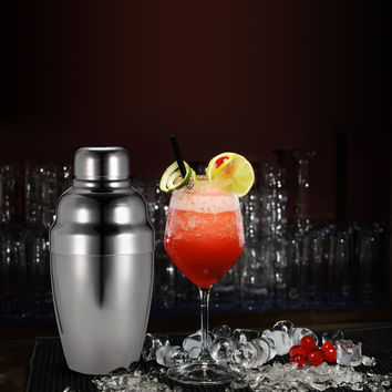 Stainless Steel Cocktail Shakers Mixer Set with Strainer Pour Spot