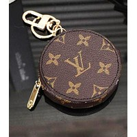 LV 2018 Hot ! Louis Vuitton Fashion Women Men Round Leather Key Pouch Car Key Wallet Coin Purse I