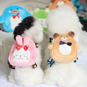 2016 New Design Fashion Styles 5 Colors Animals Shape Dog Harness and Leash Set with Bag Multi Functions Pet Products Harness