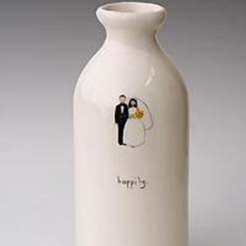 Happily Apothecary Vase: Beth Mueller: Ceramic Vase - Artful Home