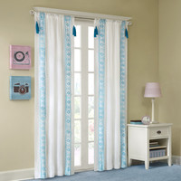 Mi Zone Shana Embroidered Tassel Window Curtain|Designer Living