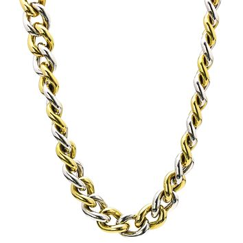 Roberto Coin 18k Gold Curved Link Chain Toggle Clasp Choker Necklace