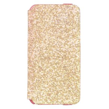 Cool Light Gold Glitter Incipio Watson™ iPhone 6 Wallet Case