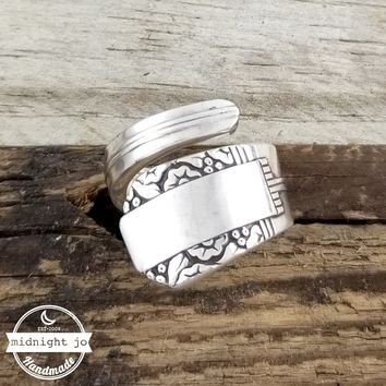 Park Lane Silver Wrapped Spoon Ring