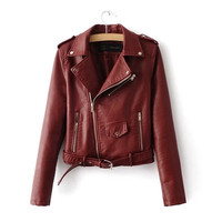 Jessica Faux Leather Jacket