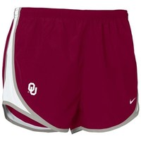 Nike Oklahoma Sooners Crimson Ladies Tempo Shorts