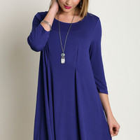 Cobalt Relaxed Fit Swing Dress