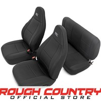Jeep Wrangler TJ Black Neoprene Seat Cover Set (Front & Rear) 1997 - 2002