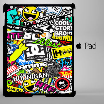 Sticker Bomb Artwork iPad 2, iPad 3, iPad 4, iPad Mini and iPad Air Cases - iPad
