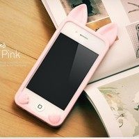 IPHONE 4 CAT EAR CASE