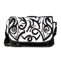 Tribal Dragons Tattoo Messenger Bag
