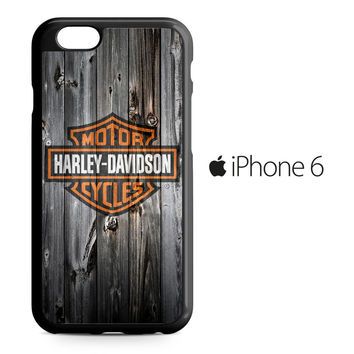 Harley Davidson Wood Art iPhone 6 Case