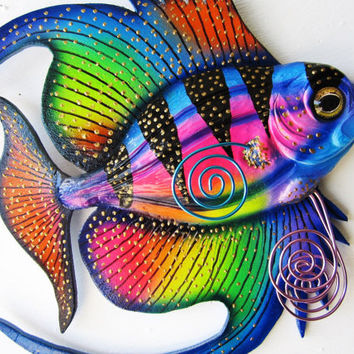 Fish art wall sculpture