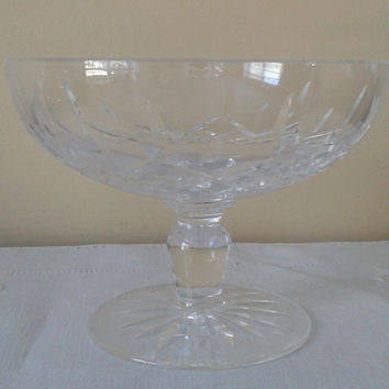 Vintage Waterford Crystal Lismore Compote Candy Dish
