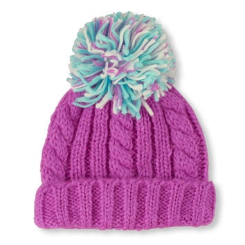 Cable Knit Pom Pom Beanie | The Children's Place