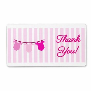 Baby Shower Thank You Label Tickled Pink