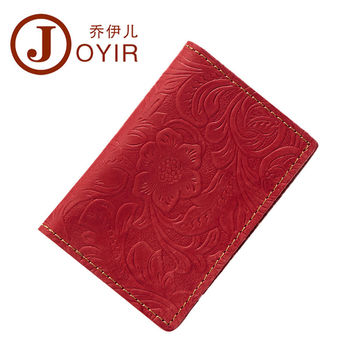 Delicate Business Card Holder Passport Cover Genuine leather Embossing restoring ancient ways Passport Holder Protector Wallet
