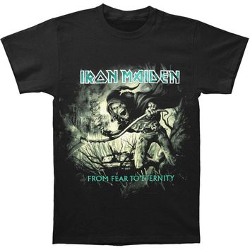 Iron Maiden Men's  CM EXL From Here To Eternity Distressed T-shirt Black