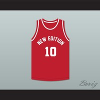 Michael Bivins 10 New Edition Red Basketball Jersey