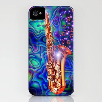 Saxophone iPhone Case by JT Digital Art  | Society6