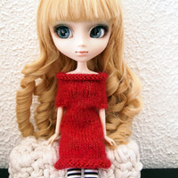 Alpaca knitted dress for Pullip & Blythe 12""