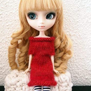 """Alpaca knitted dress for Pullip & Blythe 12"""""""